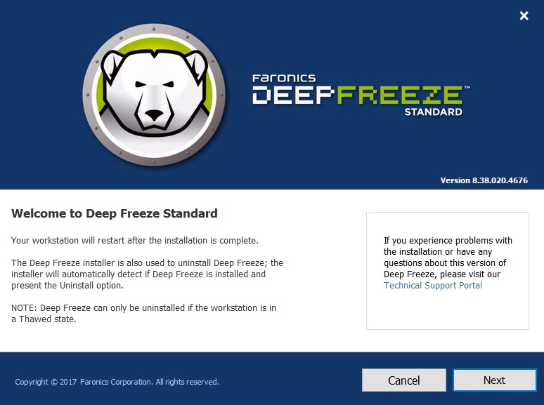 Deep Freeze Standard 8.37.020.4674