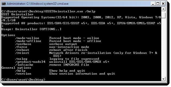 ESET Uninstaller 7.0.7.0