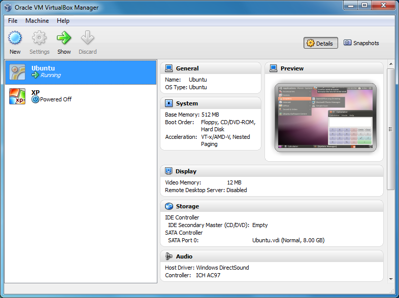 VirtualBox 5.2.6