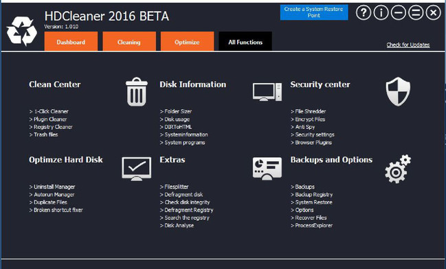 HDCleaner 2018 (1.124 Beta)