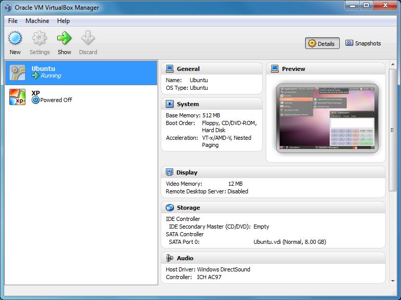 VirtualBox 5.2.8